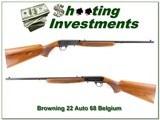 Browning 22 Auto 68 Belgium Exc Cond!