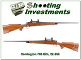 Remington 700 BDL early pressed checking 22-250