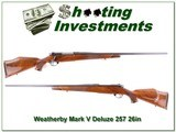 Weatherby Mark V Deluxe 26in 257 Wthy Mag!