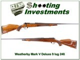 Weatherby Mark V Deluxe 9-lug 26in 240 Wthy Mag!