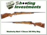 Weatherby Mark V Deluxe 300 Wthy Magnum - 1 of 4