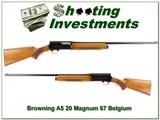 Browning A5 Belgium Magnum 12 Ga 67 First Year Mint collector!