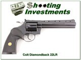 Colt Diamondback 22LR 6in Blued