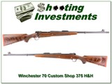 RARE Winchester Model 70 Custom Shop 375 H&H Engraved! for sale