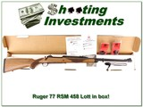 Ruger 77 RSM 458 Lott as new in box!