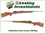 Weatherby Crown Custom fully engraved 300 Wthy Mag - 1 of 4