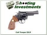 Colt Trooper in hard to find 22LR 4in blued for sale