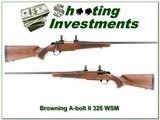 Browning A-Bolt II in 325 WSN Exc Cond