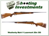 Weatherby Mark V 5 Panel Lazermark 300 collector! for sale