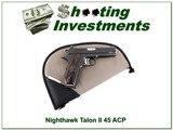 NightHawk Custom Talon II 45 ACP for sale - 1 of 4