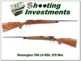Remington 700 BDL Left-Handed 270 Win