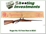 Ruger No. 1 B Red Pad 7mm Rem in box Collector!
