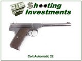 Colt Automatic Target 22LR made in 1926 for sale - 1 of 4