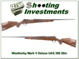 Weatherby Mark V Deluxe USA 300 as new!