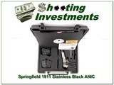 Springfield 1911 Blackened Stainless Combat ANIC for sale - 1 of 4