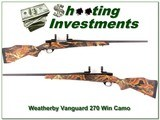 Weatherby Vanguard limited edition camo 270 Win