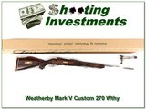 Weatherby factory Custom 270 Wthy mag XXX Wood! - 1 of 4