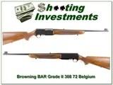 Browning BAR Grade 2 308 72 Belgium collector! - 1 of 4