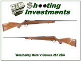 Weatherby Mark V 257 Wthy Deluxe 26in USA Exc Cond