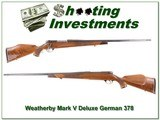 Weatherby Mark V Deluxe GERMAN 378 Exc Cond! - 1 of 4