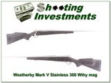 Weatherby Mark V Stainless 26in 300 Wthy Mag! for sale