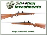 Ruger 77 older Red Pad 243 Win Exc Cond! - 1 of 4