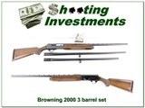 Browning 2000 75 Belgium 12 Ga 3-barrel set! for sale - 1 of 4