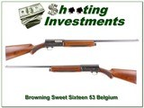 Browning A5 Sweet Sixteen 53 Belgium collector! - 1 of 4
