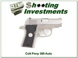 Colt Pony Pocketlite 380 Auto stainless for sale - 1 of 4