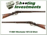 Winchester 1873 in rare 22 short made in 1890 for sale