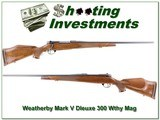 Weatherby Mark V Deluxe 300 Wthy Magnum for sale