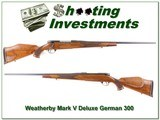Weatherby Mark V Deluxe 1960 German 300 collector!