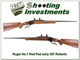 Ruger No.1 Red Pad early 257 Roberts as new! - 1 of 4