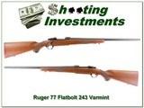 Ruger Model 77 Flat Bolt 243 Win Varmint collector! for sale
