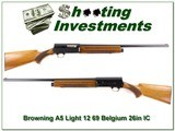 Browning A5 Light 12 69 Belgium blond 26in IC - 1 of 4