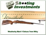 Weatherby Mark V Deluxe 7mm Wthy ANIB - 1 of 4