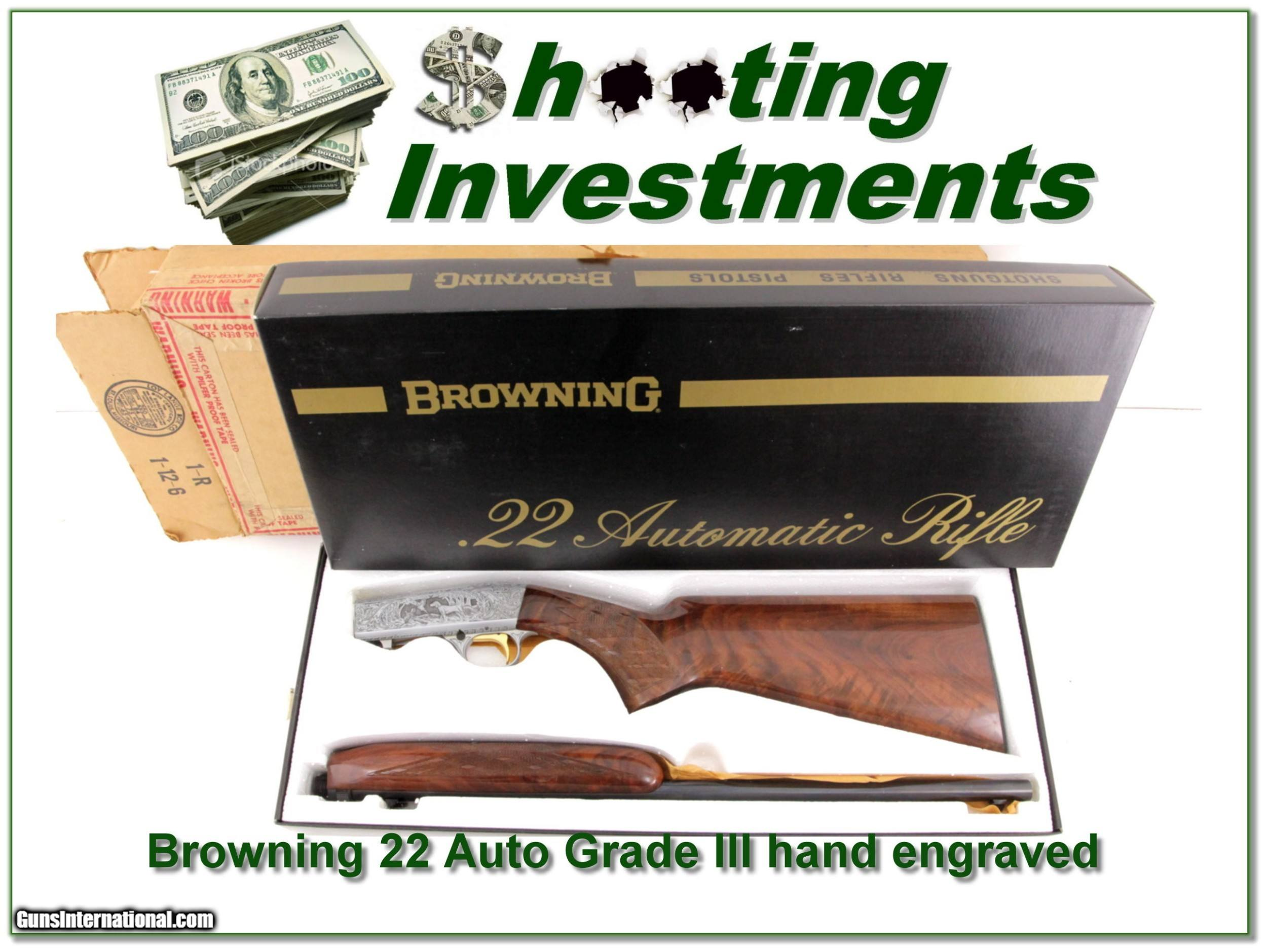 Browning 22 Auto Grade III hand engraved ANIB! for sale