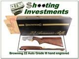 Browning 22 Auto Grade III hand engraved ANIB! - 1 of 4