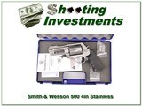 Smith & Wesson 500 Stainless 4in in case