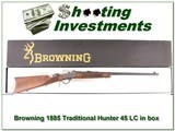 Browning 1885 Traditional Hunter 45 LC NIB for sale - 1 of 4