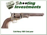 Colt Navy 1851 2nd year 36 caliber Exc Cond! for sale