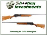 Browning A5 1963 Belgium 12 Ga Blond - 1 of 4