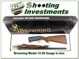 Browning Model 12 20 nice wood ANIB - 1 of 4