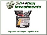 Sig Sauer 1911 SUPER TARGET Stainless 45 ACP - 1 of 4