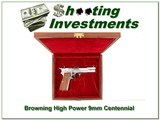 Browning High Power 9mm Centennial New in case for sale - 1 of 4