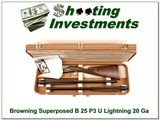 Browning Superposed B25 P3 Featherweight 20 Gauge 2 barrel set for sale