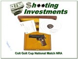 Colt Gold Cup NRA Centennial 45 ACP ANIC for sale