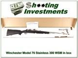 Winchester 70 Stainless 300 WSM ANIB New Haven gun!