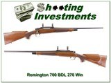 Remington 700 BDL 270 Winchester for sale