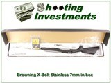 Browning X-Bolt Stainless Stalker 7mm Rem in box for sale - 1 of 4